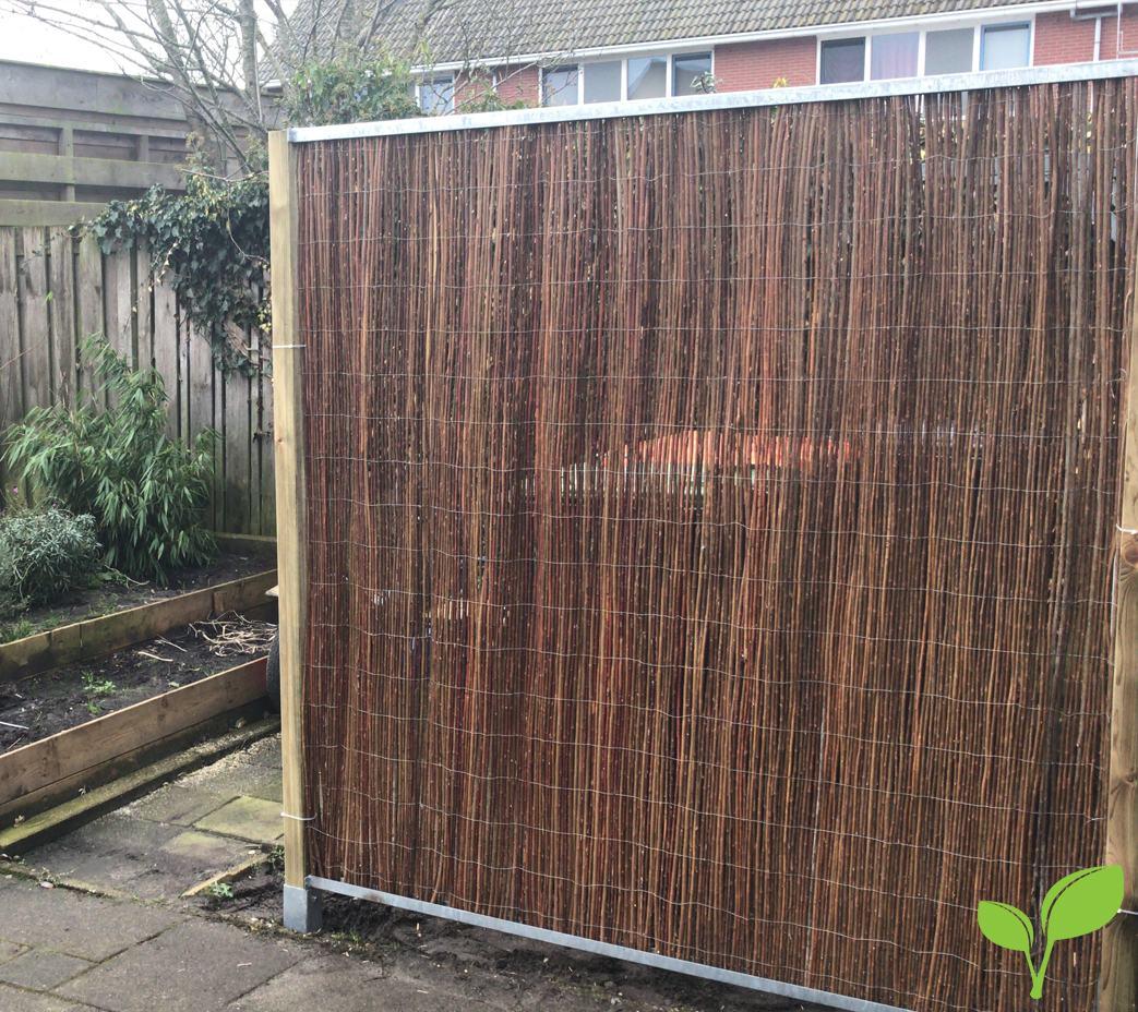 Wilgenmat schuttingsysteem tuinscherm